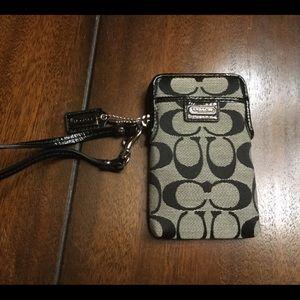 Coach phone/ID case/wristlet